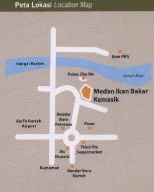 Peta Lokasi Medan Ikan Bakar Kemasik, Klik Untuk Besarkan Imej