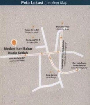Peta Lokasi Medan Ikan Bakar Kuala Kedah, Klik Untuk Besarkan Imej